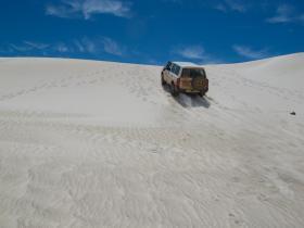 Die weißen Sanddünen von Lancelin