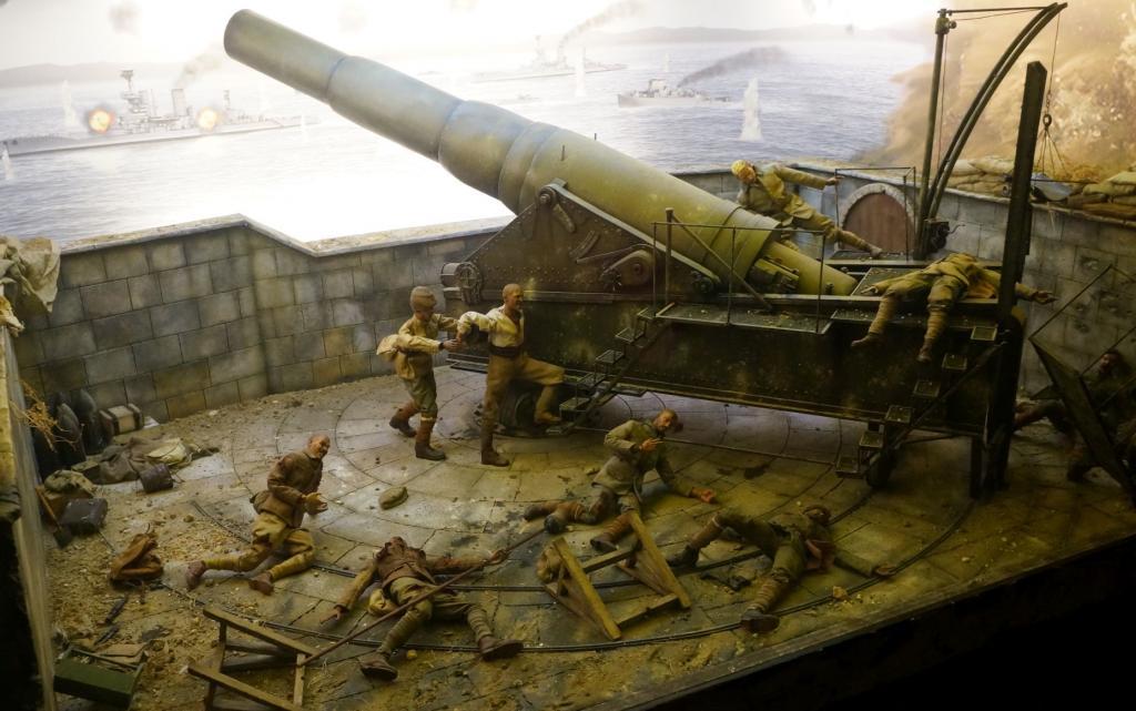 Gallipoli Museum: Kanonenstellung mit Puppen